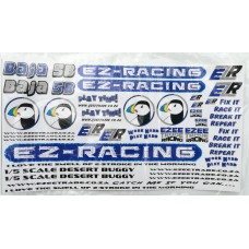 EZR Sticker Sets A5 - BLUE