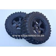 Knobby Tires Wheel Set 180 x 70 - LT V5 4WD - 2Pcs