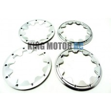 Alloy Beadlocks Alloy Silver- 4Pcs [Special Order Item - Approx. 21 days for delivery] | King Motor