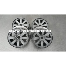 8 Spoke Rim Set 5B 4 Pcs - Black | MadMax RC