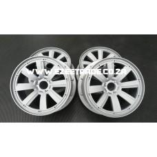 8 Spoke Rim Set 5B 4 Pcs - Grey | MadMax RC