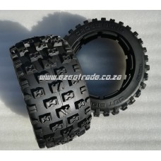 Cross Bond Tyres Rear 5B - 2Pcs | MadMax RC