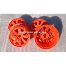 8 Spoke Rim Set 5B 4 Pcs - Orange | MadMax RC