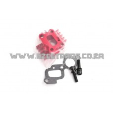 Alloy CNC Carb Manifold - RED | Rovan Sports